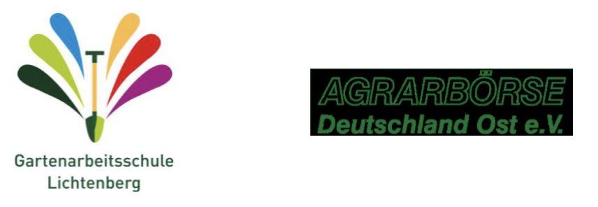 Logo: Gartenarbeitschule Lichtenberg und Agrarbörse Deutschland Ost e.V.
